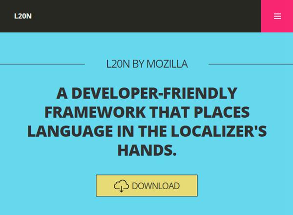 L20n – Mozilla 推出的 Web 本地化框架